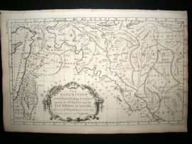 Holy Land C1780 Antique Map. Israel, Syria, Persia, Iraq, Iran, Assyria